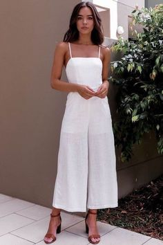 Casual Summer Outfits, Spring Outfits, Cool Outfits, Autumn Outfits, Outfit Summer, Trendy Outfits, Mode Ootd, Jumpsuit Outfit, Summer Jumpsuit