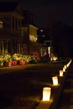 Simple luminaries - sundown is at 6:45 on Sept. 27, so these might not make a big impact.