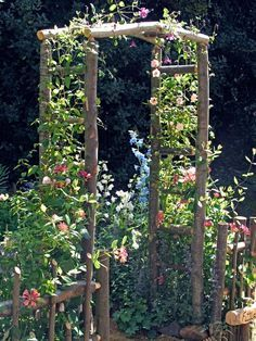 how to make wood arbor for wedding - Google Search