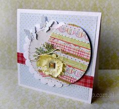 kartka wielkanocna Easter Projects, Quilling, Holiday Cards, Decoupage, Paper Crafts, Scrapbooking, Frame, Easter Card, Handmade