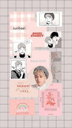 xiumin and pink. Aesthetic Editing Apps, Exo Lockscreen, Artist Logo, Exo Xiumin, Dark Star, Kpop, Pink Aesthetic, Bts Wallpaper, Aesthetic Wallpapers