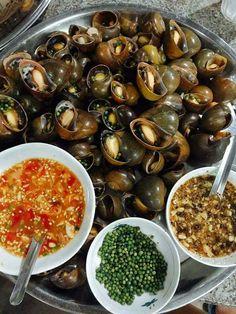 Vietnamese Cuisine, Vietnamese Recipes, Thai Recipes, Shrimp Recipes, Snails Recipe, Exotic Food, Korean Food, Asian, No Cook Meals