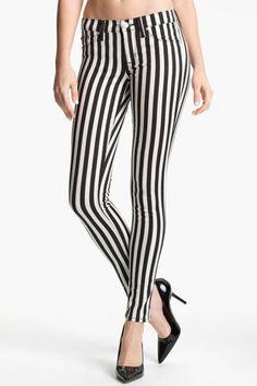 Spring Stripes to buy now  The Pants  Hudson Jeans Krista Stripe Super Skinny Jeans