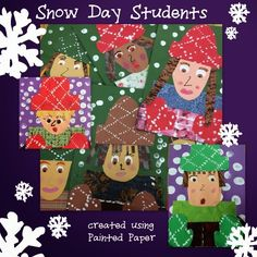 PAINTED PAPER: Hot Cocoa and Snow Day Students