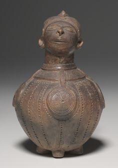 Vessel | Vessel, 1930s      Mbitim (Sudanese)      earthenware, Overall - h:25.40 cm (h:10 inches).