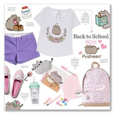 """""""Back to School With Pusheen #PVxPusheen"""" by kellylynne68 ❤ liked on Polyvore featuring Pusheen, Fountain, Kate Spade, Novelty, J.Crew, Keds, BackToSchool, contestentry, pusheen and PVxPusheen"""