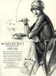 Marlboro Cigarettes Lady 1927 Mild As May - Mad Men Art: The 1891-1970 Vintage…