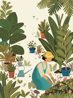 Illustration Kaa is a talented duo of Vietnamese illustrators, Phung Nguyen Quang Huynh Kim Lien, who works for magazines and publishing. Art And Illustration, Illustration Mignonne, Illustration Design Graphique, Illustrations And Posters, Character Illustration, Watercolor Illustration, Magazine Illustration, Illustration Fashion, Art Inspo