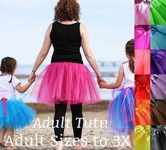 Adult Tutu - Great for Fun Runs! (More Colors!) -- HALLOWEEEEEEEEEEEN