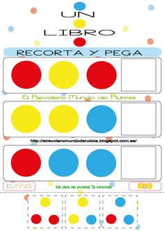 cuaderno.actividades.libro Spanish Lessons, Mommy And Me, Montessori, Homeschool, Colours, Winter Time, Shape Activities, Activity Books, Infant Activities