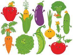BUY 1 GET 1 FREE  Vegetables Clipart  Digital Vector by TanitaArt