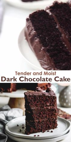 Dense Chocolate Cake Recipe, Mini Chocolate Cake, Dark Chocolate Recipes, Rich Chocolate Cakes, Chocolate Desserts, Chocolate Cake With Strawberries, Homemade Chocolate Cupcakes, Death By Chocolate Cake, Homemade Chocolate Frosting