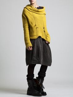 oversize sweater with weird neckline