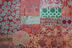 Assorted Handmade Gelli Plate Print Papers for use in Collages, Art Journals, Mixed Media Art, Scrapbooks, Smash Books, Cards, and more! #45 by KrisCollageMadness on Etsy