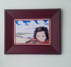 Viviana Odeard , cuadro Pintado a mano sobre placa ceramica ( diseño propio)