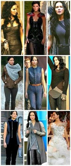 The costume department outdid themselves for Catching fire... Jennifer Lawrence looked stunning. I especially loved the top left one.