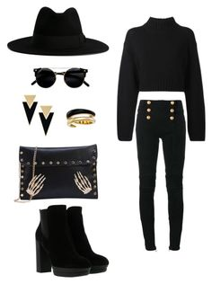 Gold trickles by anmari29 on Polyvore featuring polyvore, fashion, style, DKNY, Balmain, Hogan, Yves Saint Laurent, Michael Kors and clothing Balmain, Polyvore Fashion, Yves Saint Laurent, Michael Kors, Clothing, Gold, Image, Style, Outfits