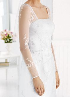 Long sleeves with beaded motif to add to dress David's Bridal $59.00