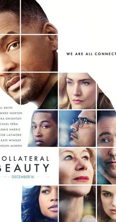 Collateral Beauty poster (Will Smith Edward Norton Keira Knightley Michael Pena Kate Winslet Helen Mirren) Films Hd, Hd Movies, Movies To Watch, Movies Online, Movies And Tv Shows, July Movies, 2017 Movies, Movies Free, Cinema Movies