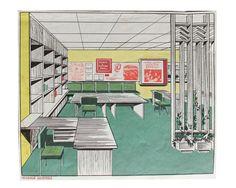 Interior design soviet art print USSR