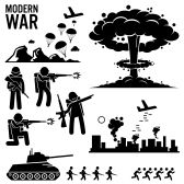 vector people stick : War Modern Warfare Nuclear Bomb Soldier Tank Attack Stick Figure Pictogram Icons