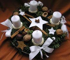 Věnec adventní bílý Table Decorations, Home Decor, Xmas, Christmas, Dekoration, Ideas, Decoration Home, Room Decor, Home Interior Design