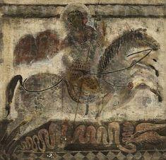 Святой Георгий Победоносец. Грузинский художник Мераб Абрамишвили (Merab Abramishvili).