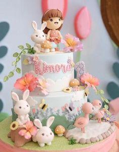 45 ideas for birthday party cake art 1st Birthday Cake For Girls, Animal Birthday Cakes, Baby Birthday Cakes, Birthday Animals, Mermaid Birthday, Winter Torte, Rodjendanske Torte, Baby Girl Cakes, Cake Baby