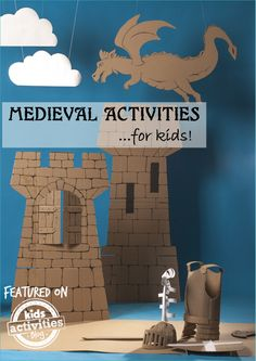 list of over 27 Medieval Activities for Kids is sure to make your learning adventures fun!This list of over 27 Medieval Activities for Kids is sure to make your learning adventures fun! History Activities, Teaching History, Activities For Kids, Crafts For Kids, Enrichment Activities, History Education, Medieval Crafts, Medieval Party, Medieval Decorations