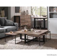 "PR Interiors Florida salontafel in olm inclusief 4 Bijzettafels in White Washed Elm 110x110<span style=""font-size: 0.01pt;""> PR-Rogiers-Home-Interiors-CRW/217/15 salontafel-koffietafel-table-de-salon-table-basse-tables-de-salon-tabl </span>"
