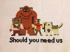 Should You Need Us Cross Stitch Pattern by ceeveemmm on Etsy https://www.etsy.com/listing/164670910/should-you-need-us-cross-stitch-pattern