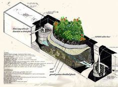 Le traitement des eaux usées selon Earthship | Sustainable Green Buildings - Sewage Treatment, Containment and Distribution - earthship.com