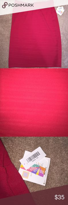 BNWT LuLaRoe Cassie Skirt size 2XL BNWT LuLaRoe Cassie Skirt size 2XL in the color red LuLaRoe Skirts Pencil