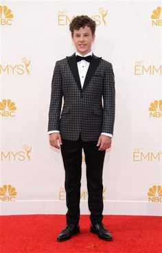 """""""Modern Family"""" actor Nolan Gould arrives at the 2014 Emmy Awards at the Nokia Theatre L.A. Live in Los Angeles on Aug. 25, 2014."""
