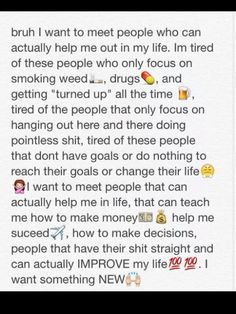 Don't care about the weed part but the rest is on point