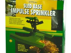 Sled Base Impluse Sprinkler, 32 - Efficiently water lawns, groundcovers and shrubs with this Sled Base Impluse Sprinkler featuring a sled-type base for better balance and adjustable stream length pattern and spray controls that give you the ultimate flexibility. Steady, uniform application reduces runoff and improves soaking. Waters up to 80 feet (5000 square feet ) diameter circle. Comes packaged in an individual box.-Weight: 2/unit