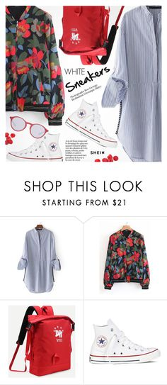 """""""So Fresh: White Sneakers"""" by pokadoll ❤ liked on Polyvore featuring Converse and Ray-Ban"""