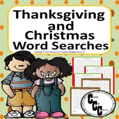 Thanksgiving Word Search, Christmas Word Search, Thanksgiving Words, Christmas Words, School Resources, Teacher Resources, Teaching Materials, Teaching Ideas, Math Words