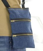 Sew a Zippity Bag - Free PDF by Coats and Clark + Sewing a Zipper into a Bag – Free Tutorial  A funky three-zipper purse has convenient compartments to keep yourself organized. An easy beginner project that also makes a fantastic gift. Recycle by using fabric from an old pair of jeans. A very practical bag for traveling too! * * * * * * * * *