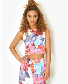 Pink Soda Bright Floral Co-Ord Tank | BANK Fashion