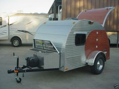 Wood Aluminum Teardrop Trailer