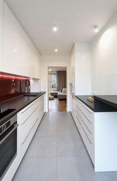 Kitchen in narrow space Kitchen Island, Kitchen Cabinets, Space, Home Decor, Island Kitchen, Floor Space, Decoration Home, Room Decor, Cabinets