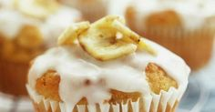 These yummy banana and lemon muffins are packed with fresh banana and those dried banana chips you see everywhere now. The lemon drizzle icing is a classic and elevates these muffins to real tea time treats.