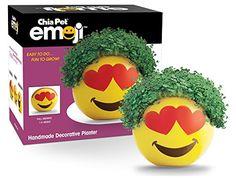 Chia Emoji Heart Eyes Handmade Decorative Planter, Yellow... https://www.amazon.com/dp/B017R0QXXI/ref=cm_sw_r_pi_dp_x_3kxbybVHM72TQ