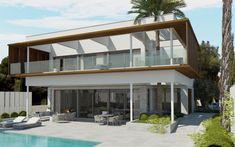Sol de Mallorca - Villa Deluxe mit traumhaftem Panorama-Meerblick Pergola, Moving To Miami, Villa, Interior Photography, Residential Architecture, Contemporary Design, Modern, Minimalism, Living Spaces