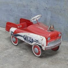 Vintage American Toy peddle car fire                 engine~