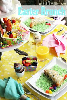 Easter Brunch - sweet ideas for an Easter breakfast or brunch with kids.