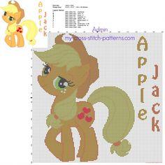 Apple Jack My Little Pony cross stitch pattern big size 150 stitches