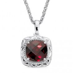 COLORE|SG Sterling Silver Garnet Pendant Product Number: LVP559-GT