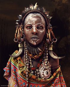 African Woman - Full image